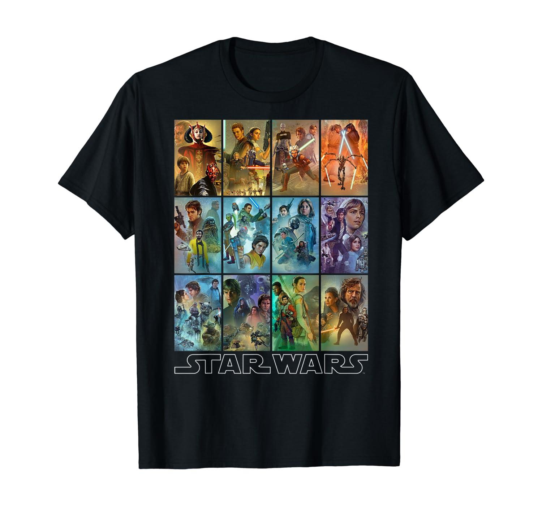 Star Wars Celebration Mural Art Panels T-Shirt