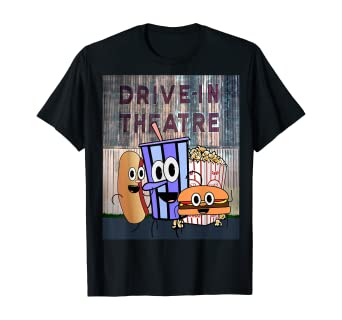 Amazon Com Drive In Theatre And Snacks Shirt Drive In Movie Theater Clothing