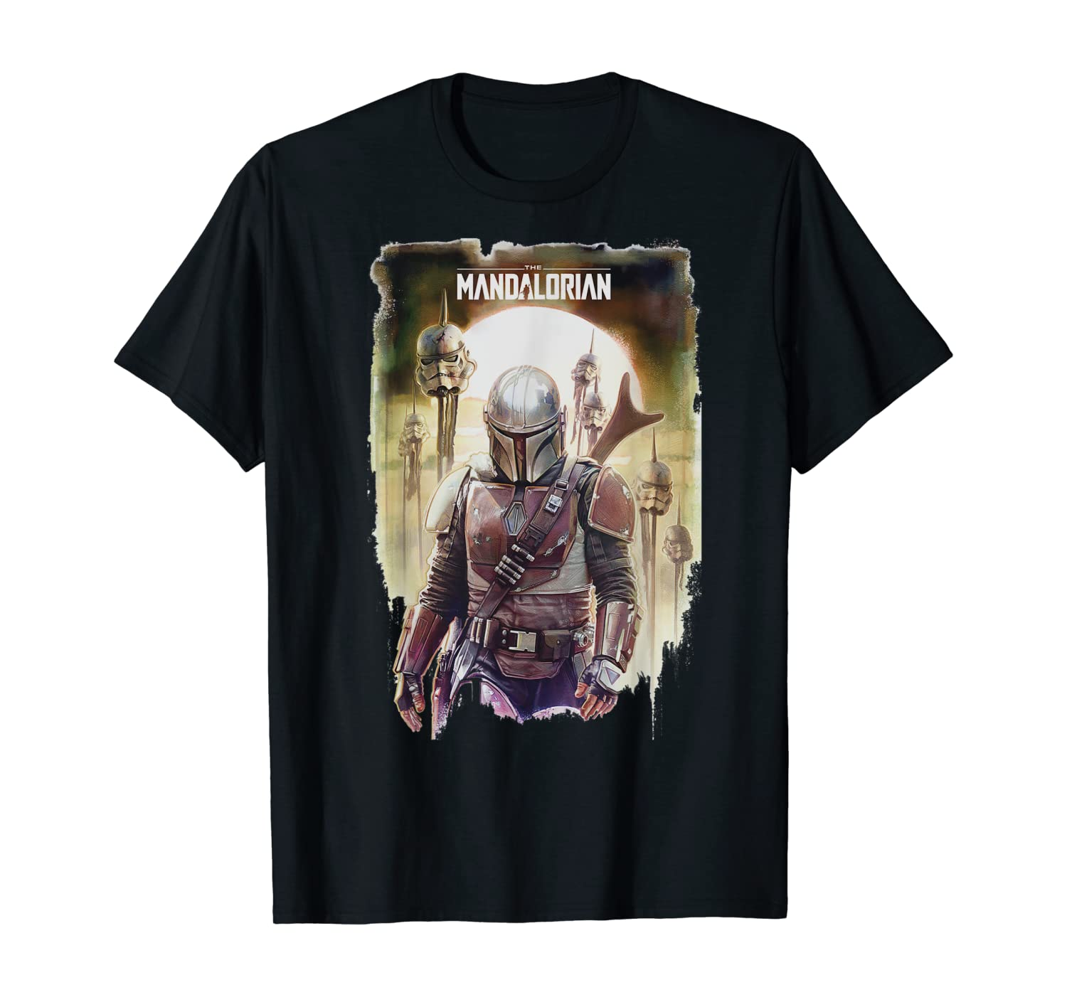 Star Wars The Mandalorian Conquer Poster T-Shirt