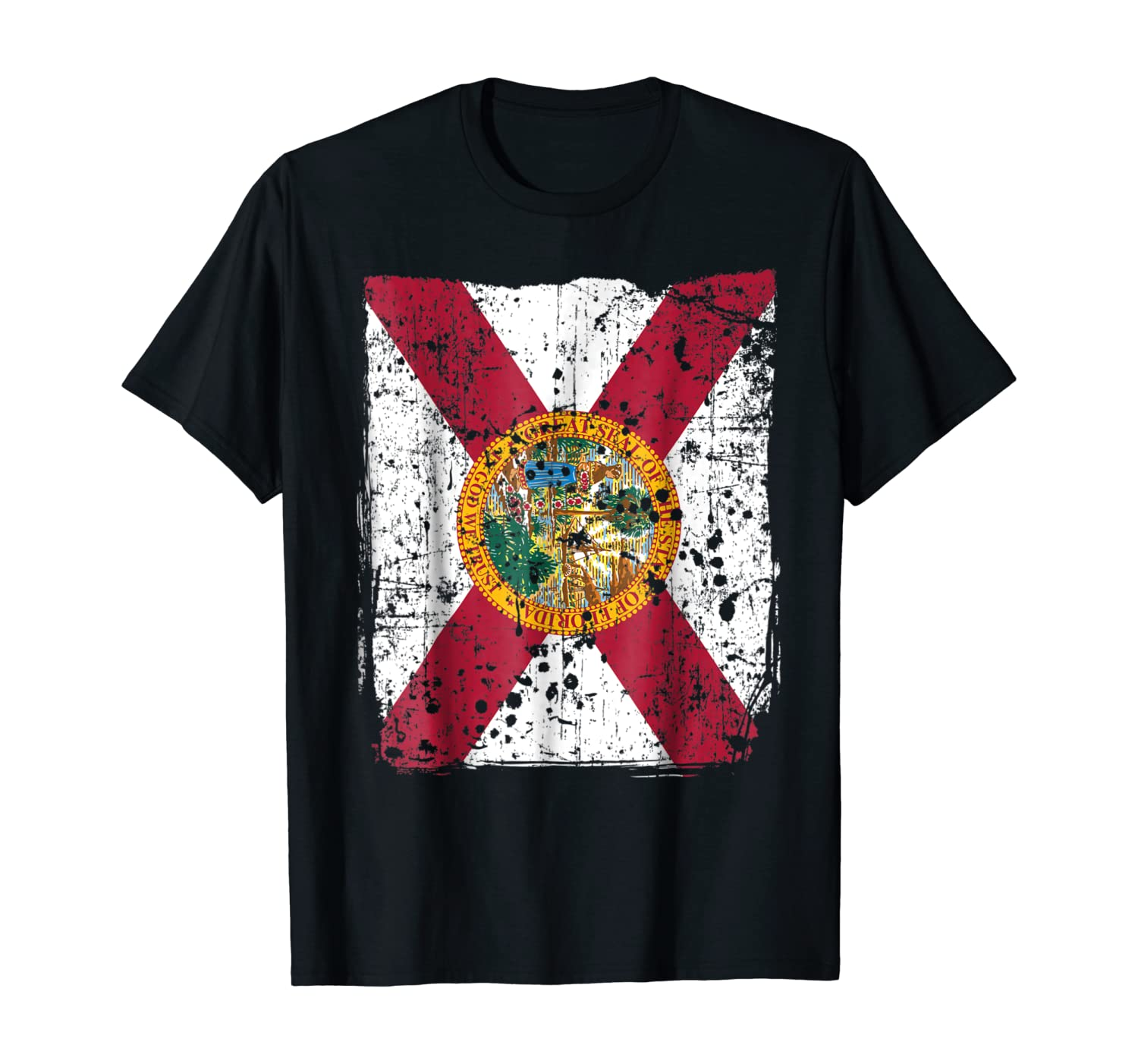 Florida State Flag, Faded Flag of Florida T-Shirt