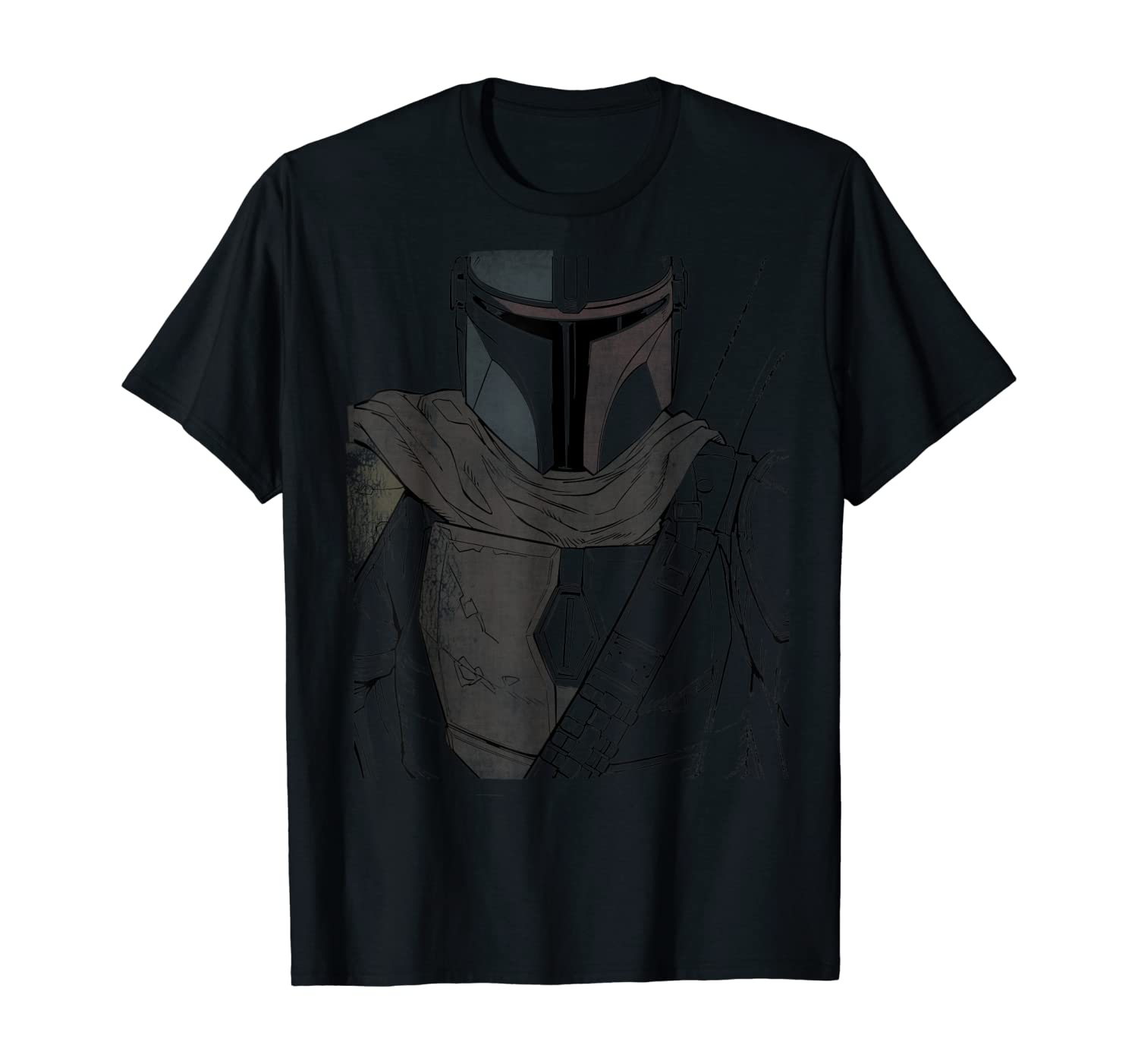 Star Wars The Mandalorian Muted Warrior T-Shirt