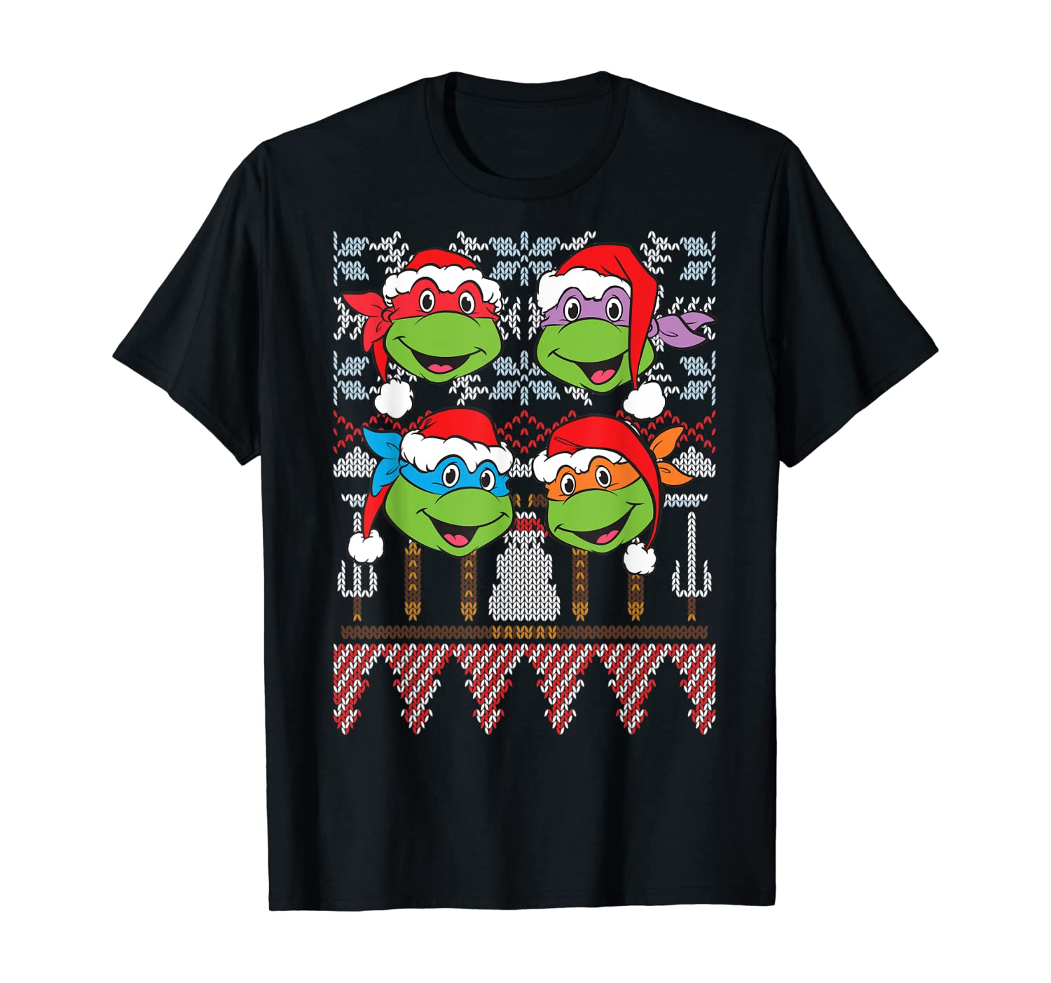 TMNT Ugly Xmas Sweaters All Turtles T-Shirt