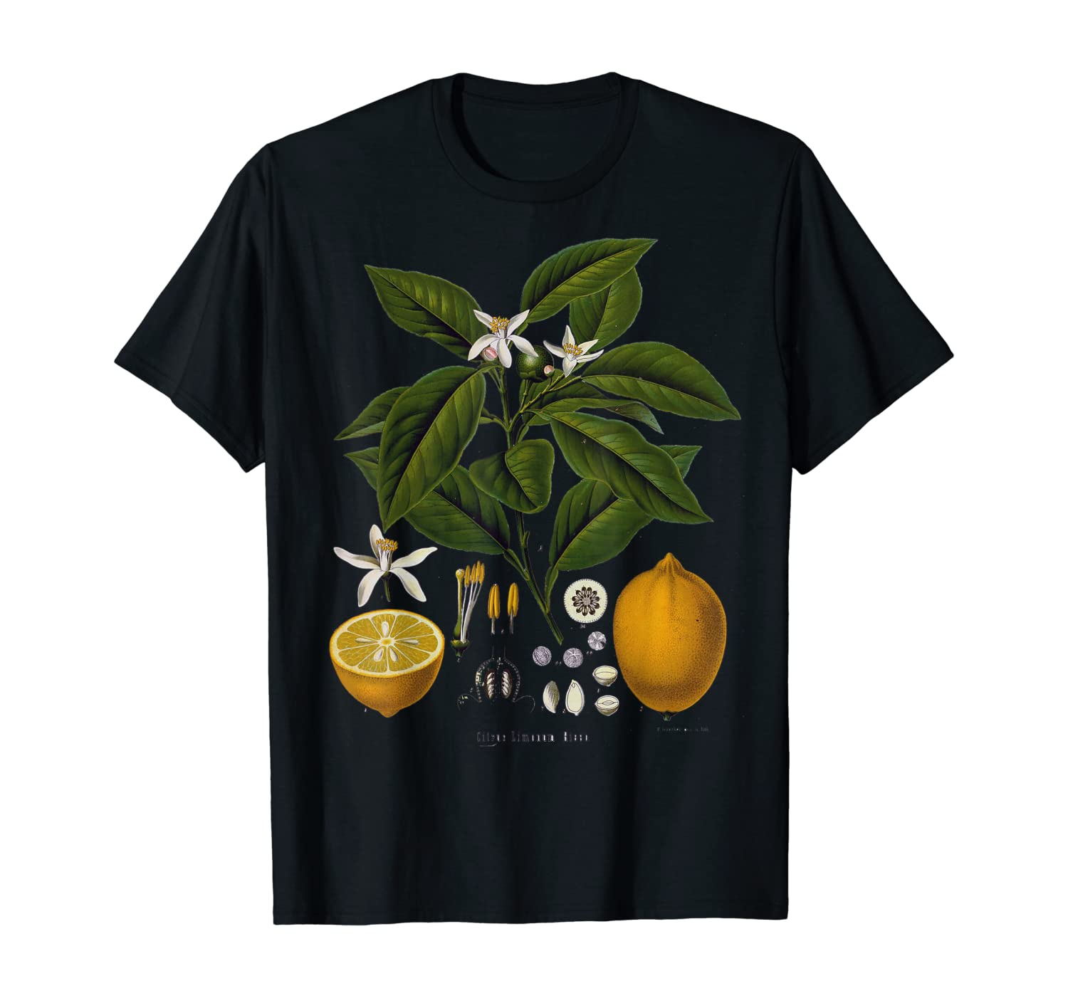 Lemon Plant botanical Fruit Tree For Gardeners gift T-Shirt