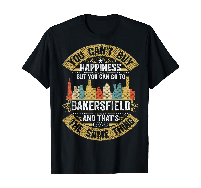 Home City Bakersfield California Skyline 70s 80s Gift T-Shirt