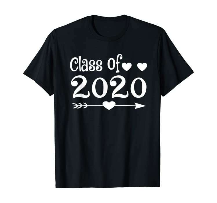 Uw Graduation 2020.Amazon Com Class Of 2020 Heart Graduation Senior Tshirt