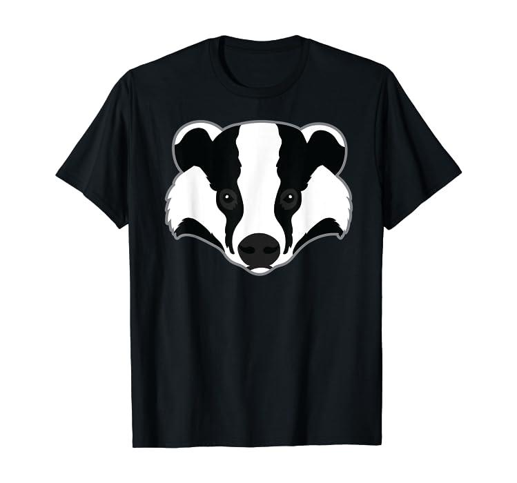 d16aa781b2bd7 Amazon.com: Funny Honey Badger Animal Face Art Clothing Gift Idea ...
