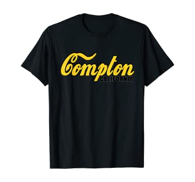 Amazon.com: USA Gifts United State Text Compton California T-Shirt: Clothing