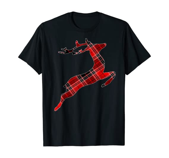 Amazon.com: Christmas Gifts - Reindeer lover Buffalo Plaid Reindeer T-Shirt: Clothing
