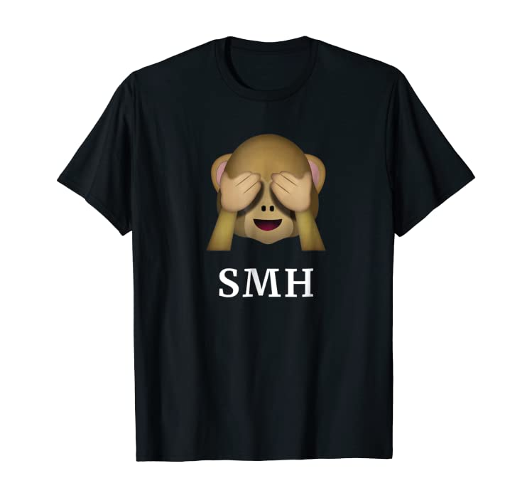 Amazoncom Smh Shirt See No Evil Monkey Emoji T Shirt Clothing