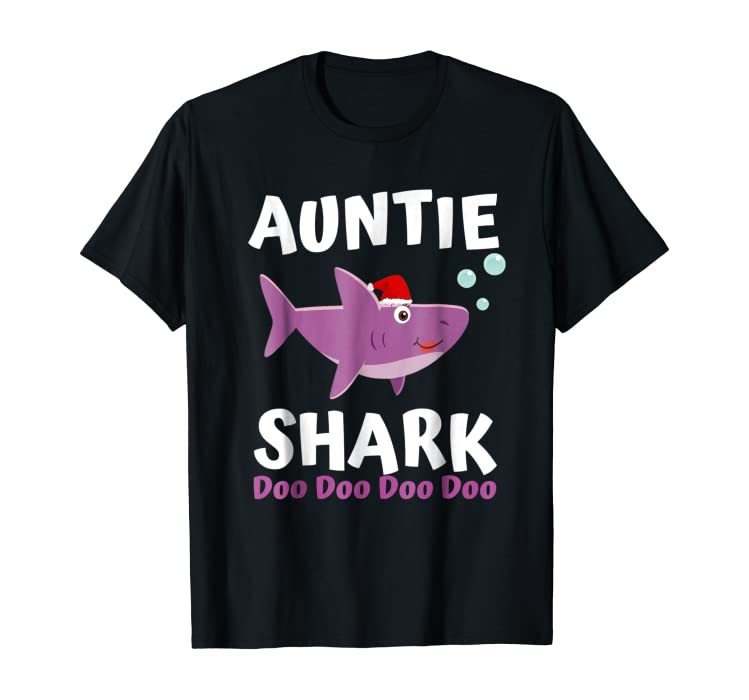 8aeb634f Amazon.com: Auntie Shark Shirt Christmas Mommy Shark Daddy Shark Baby:  Clothing