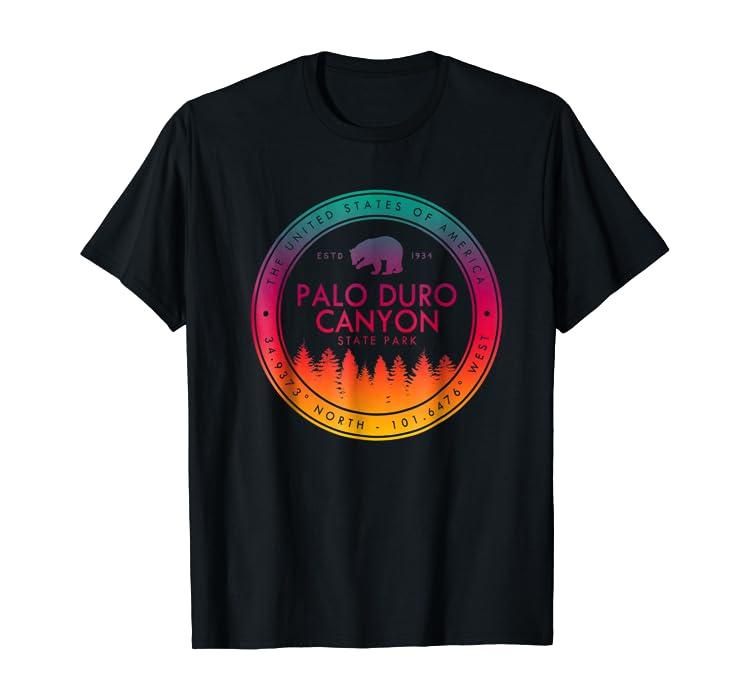 Amazon.com: Palo Duro Canyon State Park T Shirt Emblem ...