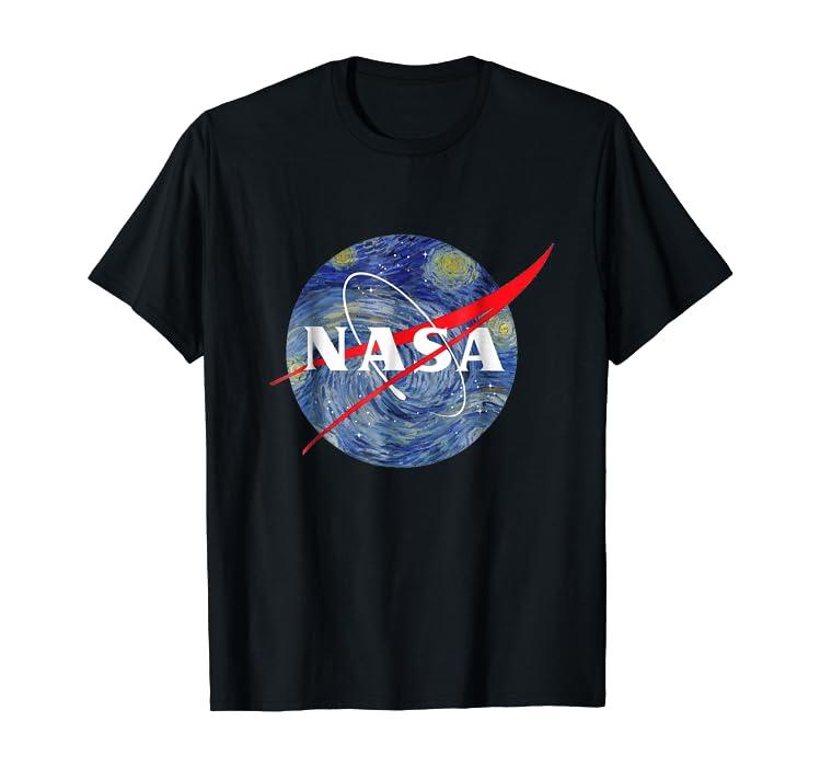 97731e88369 Amazon.com  nasa starry night t-shirt - nasa van gogh style shirt ...