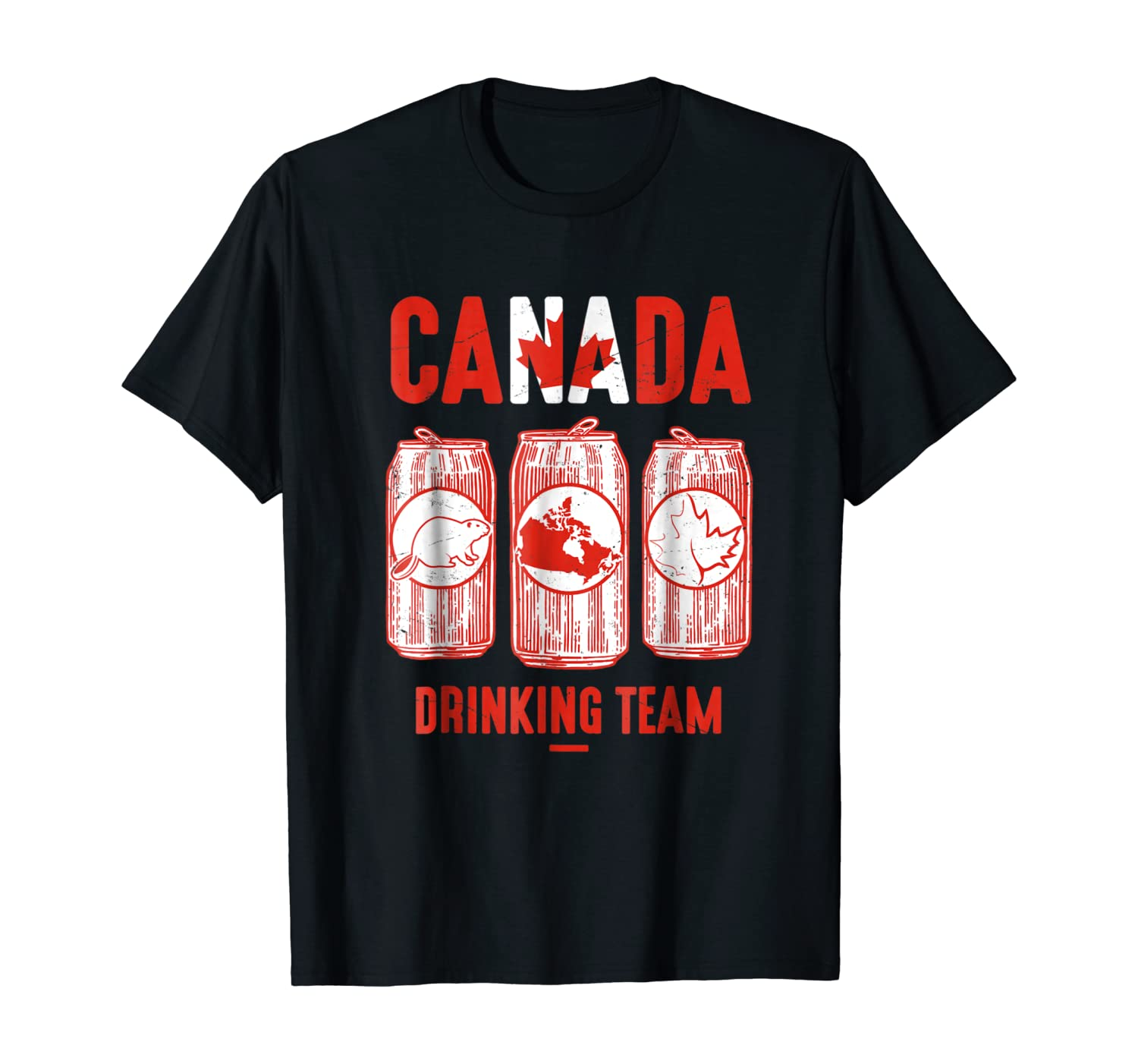 : Canada Drinking Team T shirt Canadian Pride