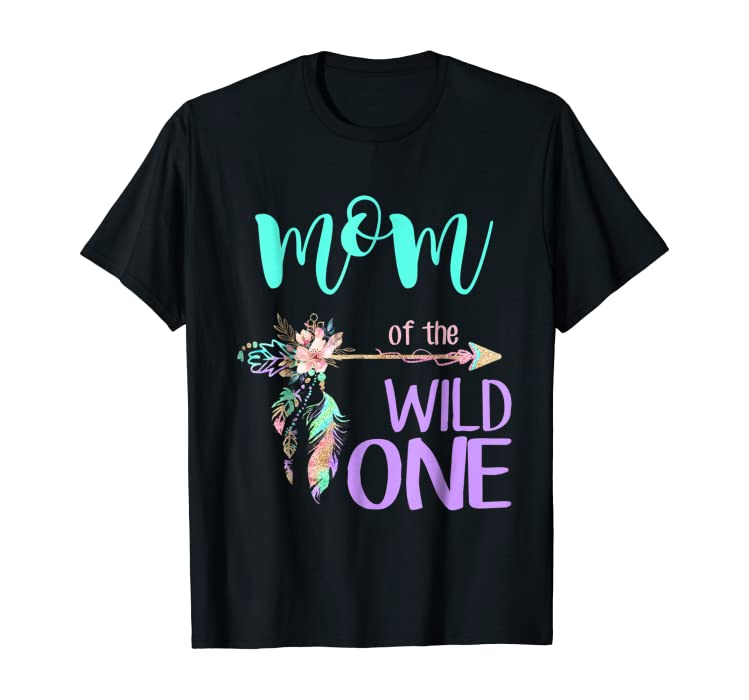 4b4d5bc3 Dad Mom Wild One Matching Family Boho Birthday Shirts. Back. Double-tap to  zoom
