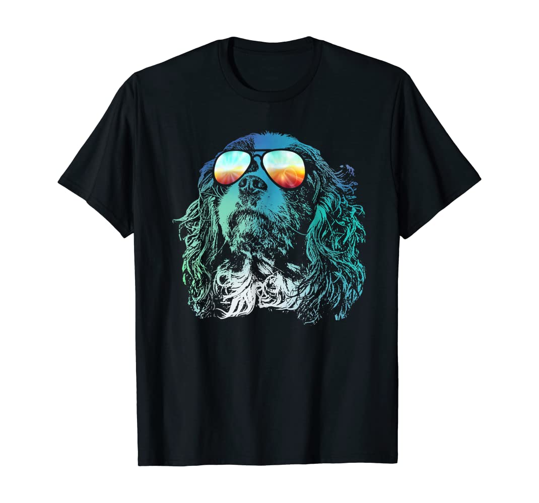 Amazon com: Neon Dog Cavalier King Charles Spaniel ! T-Shirt