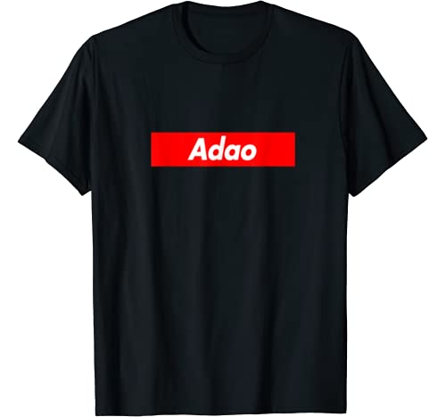 Adao Family Name Red Box Logo Funny T Shirt