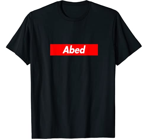 Abed Family Name Red Box Logo Funny T Shirt