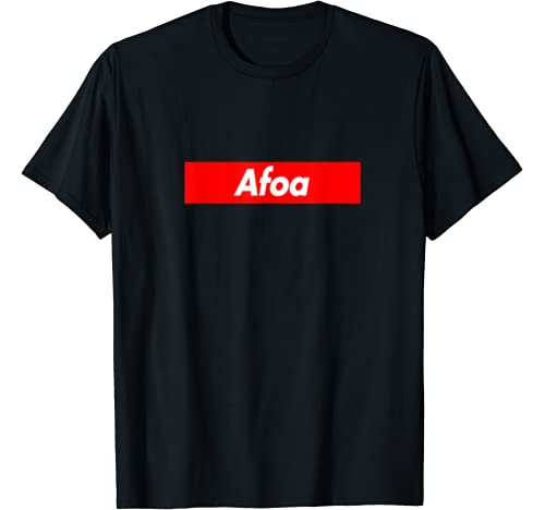 Afoa Family Name Red Box Logo Funny T Shirt