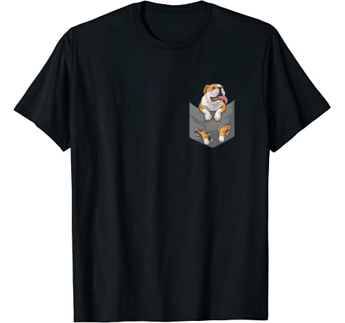 English Bulldog In Your Pocket For Dogs Lovers Men Women T Shirt
