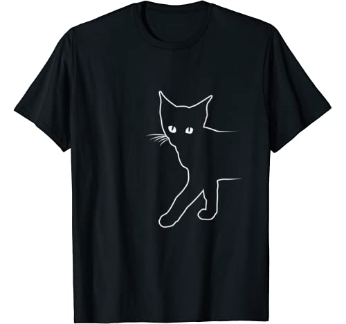 Fun Black Cat Gift Design Idea Halloween Present Idea T Shirt