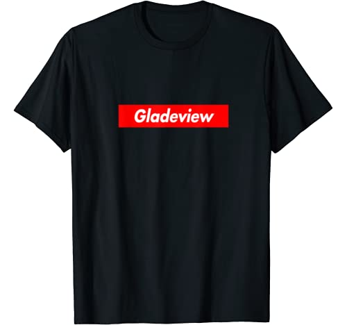 Gladeview Red Box Logo Funny T Shirt