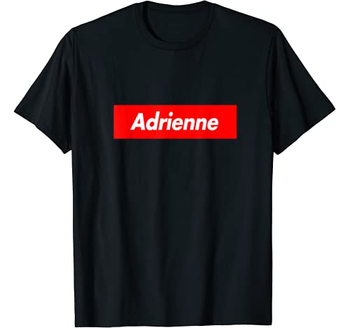 Adrienne Family Name Red Box Logo Funny T Shirt