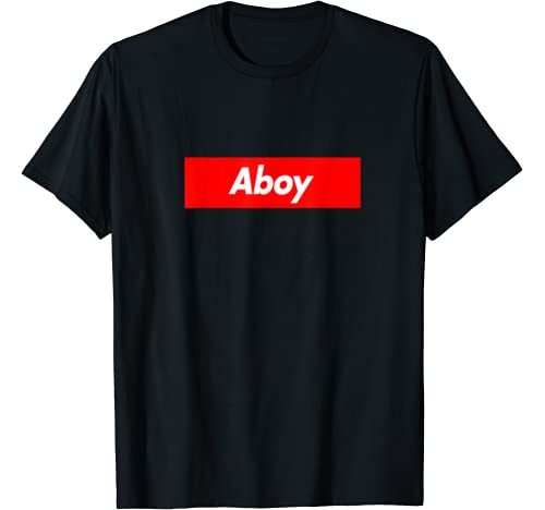 Aboy Family Name Red Box Logo Funny T Shirt