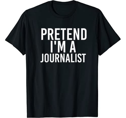 Pretend I'm A Journalist Halloween Diy Costume Party Gift T Shirt