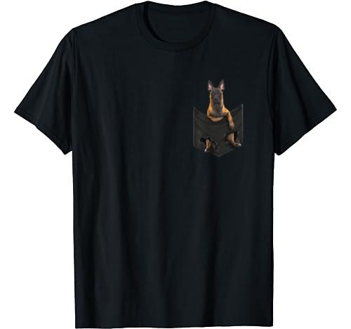 Funny Belgian Shepherd In Your Pocket T Shirt