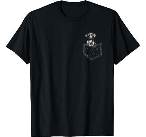 Cool Black Labrador Gift For Men Women Funny Dog In Pocket T Shirt