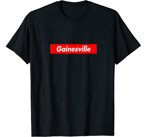 Gainesville Red Box Logo Funny T Shirt