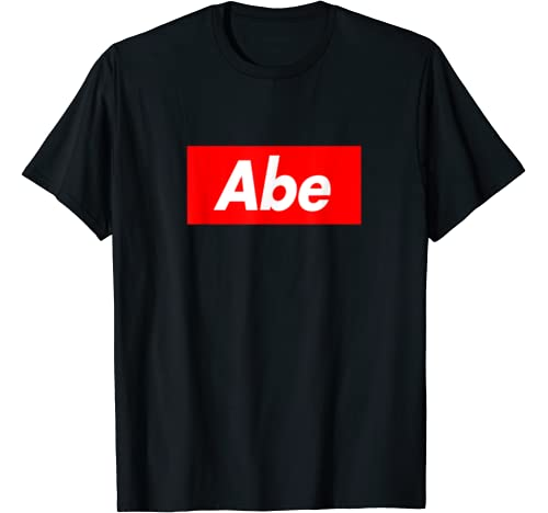 Abe Family Name Red Box Logo Funny T Shirt