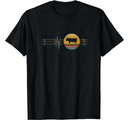 Retro Heartbeat Yorkshire Animal Rescue Lifeline Vintage T Shirt