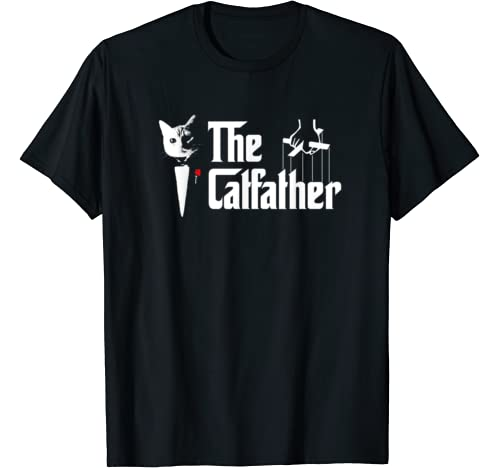 The Catfather Father Of Cats Dad Feline Cats Kitten T Shirt