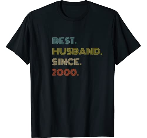 Mens 20th Wedding Anniversary Gift Best Husband Since 2000 T Shirt