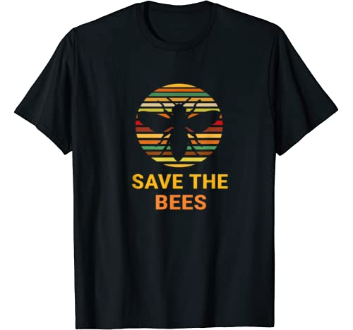 Save The Bees Vintage Sunset Bees Gift T Shirt