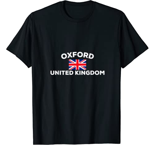 Oxford England Uk Union Jack Flag City United Kingdom Gift T Shirt