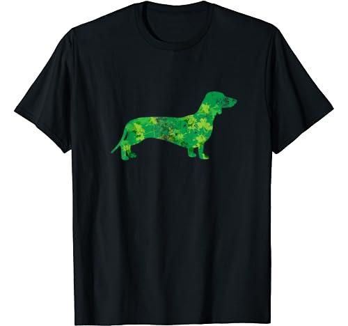 Dachshund Dog Graphic Shamrock St Patrick's Day Gifts Kids T Shirt