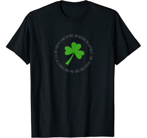 St Patricks Day Blessing Shamrock T Shirt