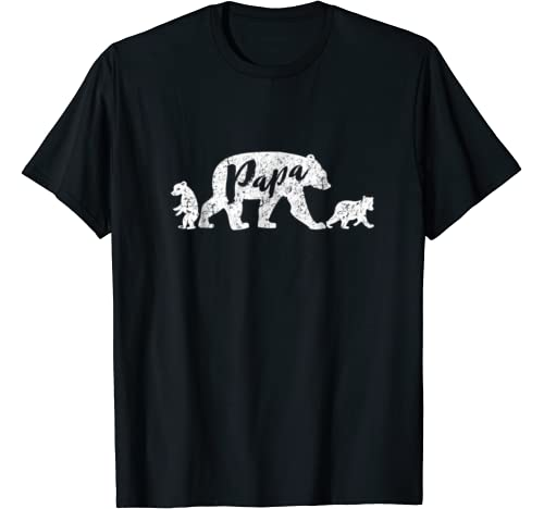 Papa Bear T Shirt Two Cubs product image