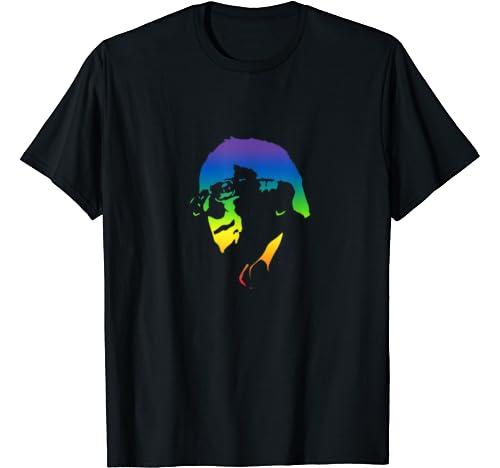 Bernie Sanders   Retro Vintage Rainbow T Shirt