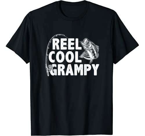 Vintage Reel Cool Grampy Loves Fishing Gift Father's Day T Shirt