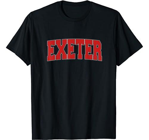 Exeter United Kingdom Varsity Style Vintage Retro Uk Sports T Shirt