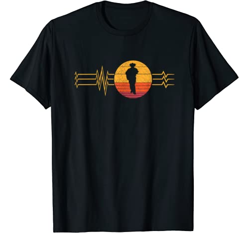 Retro Heartbeat Country Music Singer Lifeline Men Vintage T Shirt