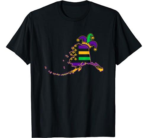 Mardi Gras Alaska Flag T Shirt