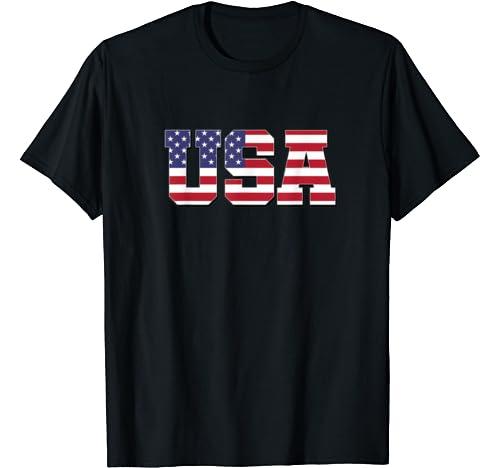 Usa Patriotic 4th Of July American Flag Vintage T Shirt