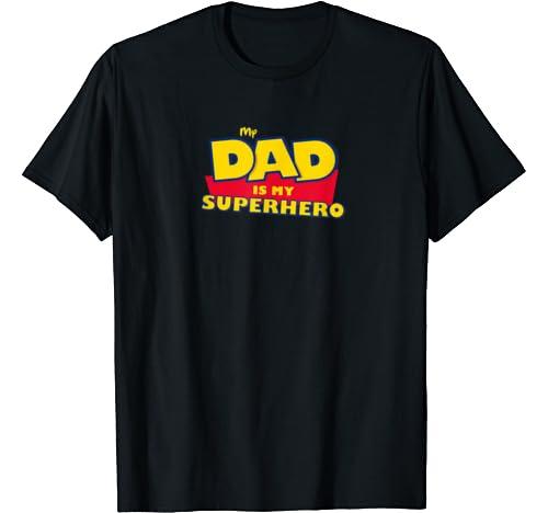 Super Dad Tee. My Dad Is My Superhero Toy Tee 4 Vintage Gift T Shirt