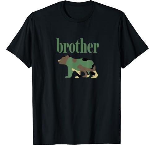 Camo Brother Bear, Brother Bear Camo, Matching Family Bear T Shirt