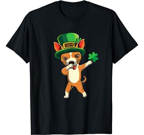 Cute Dabbing Chihuahua Dog Dab St Pattys Day Kids Boys Gift T Shirt