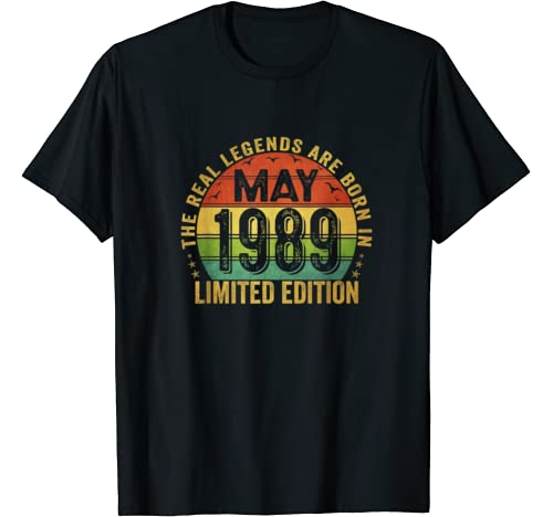 The Real Legend Are Born In May 1989 Limited Edition T Shirt